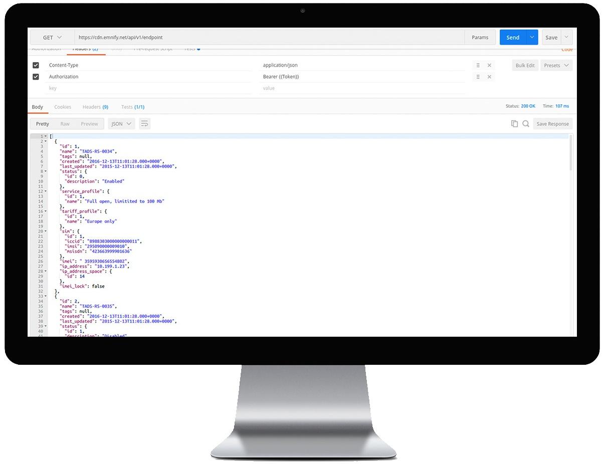 Intégration de l'API RESTful